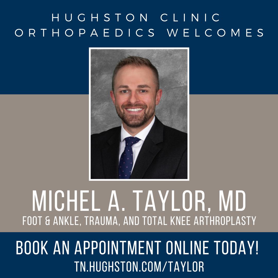 Hughston Clinic Orthopaedics welcomes Michel A. Taylor, MD, MSc, FRCSC