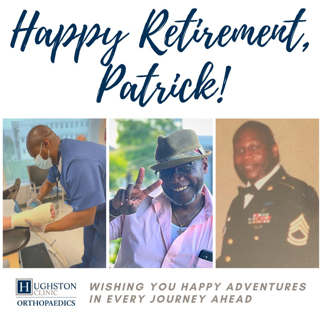 Wishing Patrick T. George a Happy Retirement